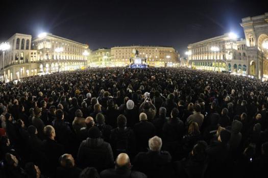 Beppe Grillo a Milano