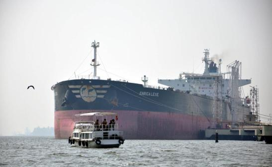 The Italian merchant ship Enrica Lexie involved in the  allegedly killing of two Indian fishermen