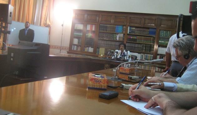 Libia-Muammar-Gheddafi-conferenza-stampa-2008-Pino-Scaccia